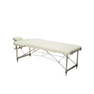 Массажный стол 2-х секционный (алюмин. рама) белый Relax HY-2010-1.3 white