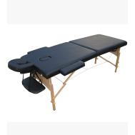 Массажный стол 2-х секционный (дерев.рама) чёрный Relax HY-20110 black