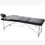 Массажный стол 3-х секционный (алюм. рамма) бежевый Relax HY-3381 beige