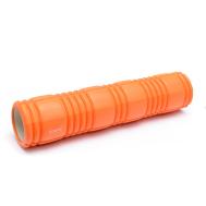 Роллер для занятий йогой и пилатесом оранжевый 62*14см EcoFit MDF016B