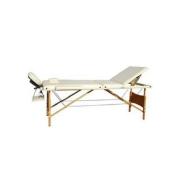 Массажный стол 3-х секционный (дерев. рама) чёрный Relax HY-30110 black
