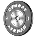 Диск бамперный 15 кг GymWay TPR-15K