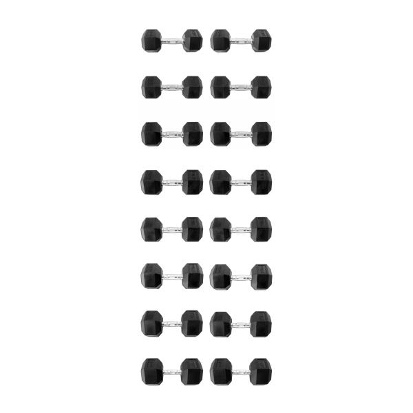 Гантельный ряд 10-30кг 9 пар Explode PD-108-10-30