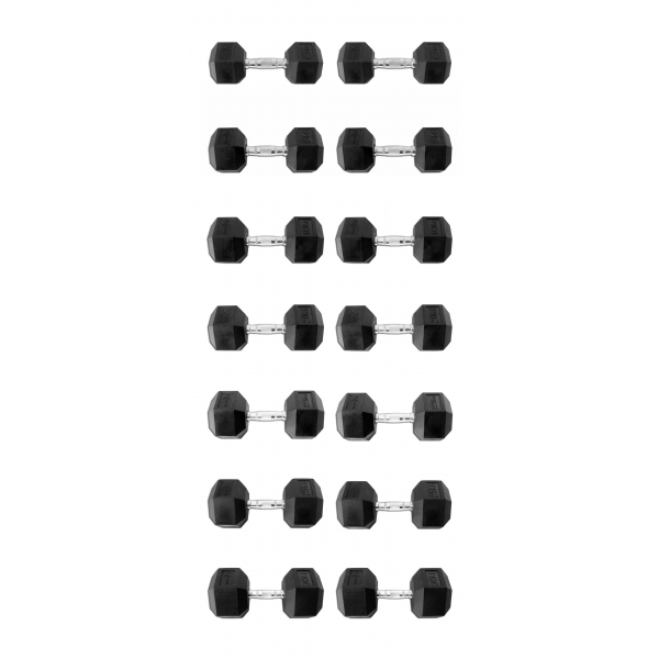 Гантельный ряд 12,5-30кг 8 пар Explode PD-108-12.5-30