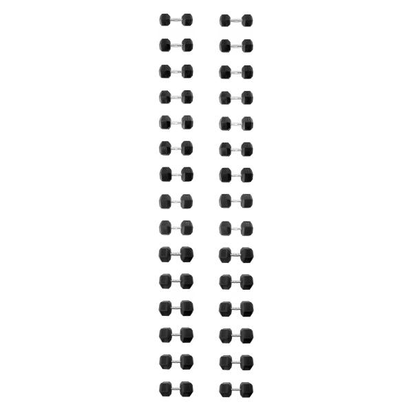 Гантельный ряд 12,5-50кг 16 пар Explode PD-108-12.5-50