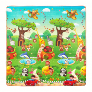 Развивающий детский коврик двухсторонний 4FIZJO KIDS 180 x 180 x 1 см 4FJ0164