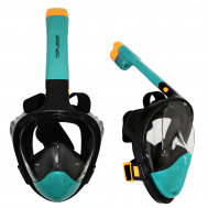 Маска для снорклинга (плавания) SportVida SV-DN0020 Size S/M Black/Navy Blue