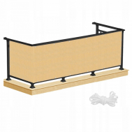 Ширма для балкона (балконный занавес) Springos 1 x 7 м BN1017 Biege