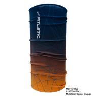 Универсальный шарф-труба для бега голубой-желтый Fitletic Multi Scarf Headwear MSF-DNA04