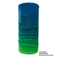 Универсальный шарф-труба для бега голубой-зеленый Fitletic Multi Scarf Headwear SF-SPD06