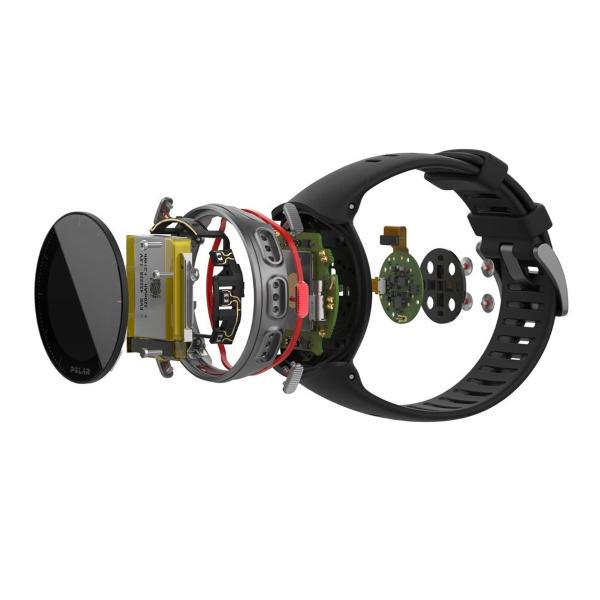 Мультиспортивные часы Polar Vantage V Titan Black/Red (черный/красный)