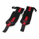 Бинт кистевой пара чёрный-красный ProSource Weight Lifting Wrist Wrap with Loop PS-5000