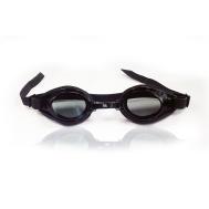 Очки для плавания чёрные Sprint Aquatics Deluxe Goggles SA-200 BK