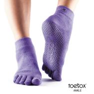 Нескользящие носки для йоги светло-фиолетовые L Toesox Ankle Full GRIP FT1 794504196238