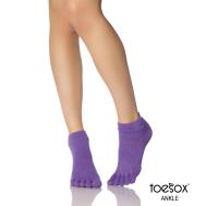 Нескользящие носки для йоги светло-фиолетовые M Toesox Ankle Full GRIP FT2 794504196139
