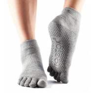 Носки серые XL Toesox ANKLE GRIP FT 811105025092