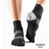 Носки для спорта черные L Toesox Lolo Sport PD3 811105020585