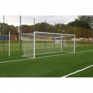 Алюминиевые футбольные ворота FIFA 7,32x2,44 м стационарные Polsport PL-9459