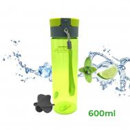 Бутылка для воды Casno 600 мл KXN-1145 Зеленая + пластиковый венчик