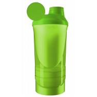Шейкер спортивный ShakerStore Wave + с 2-мя контейнерами зеленый