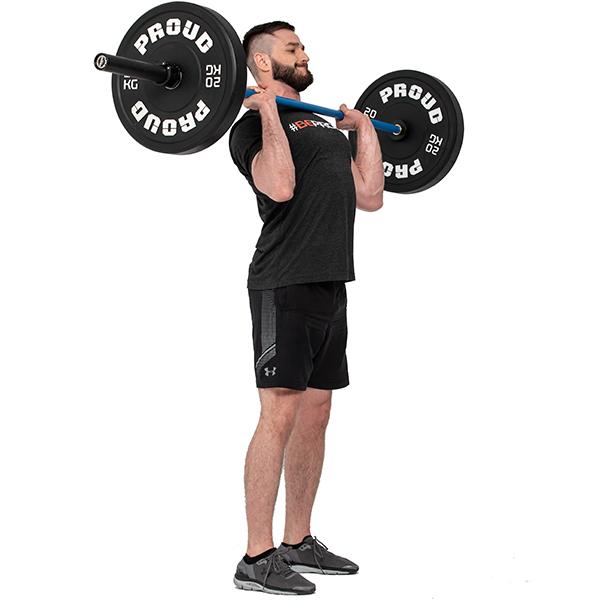 Диск олимпийский 10 кг Proud Training Black 10KG