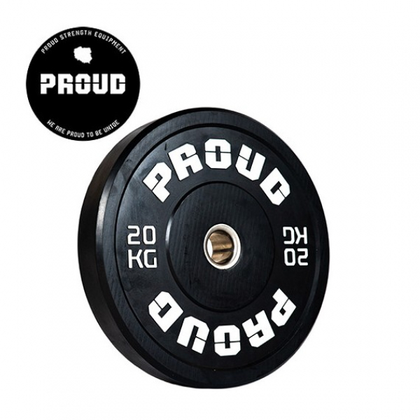 Диск олимпийский 20 кг Proud Training Black 20KG