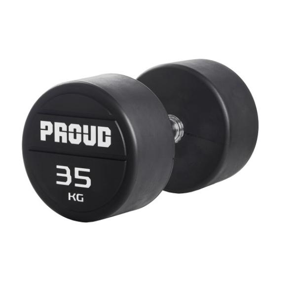 Гантельный рядобрезиненный Proud 27,5-37,5kg обрезиненный