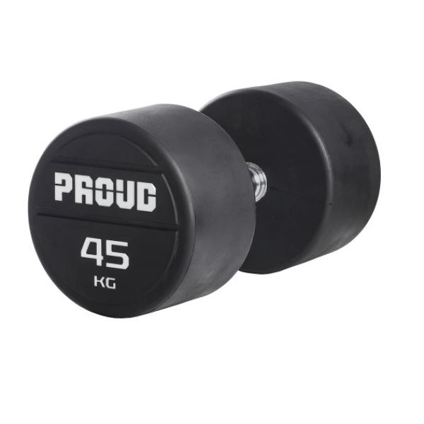 Гантельный ряд обрезиненный Proud 40-50kg обрезиненный