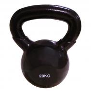 Цветная виниловая гиря  28 кг (черная) SPART DB2174-28Blk