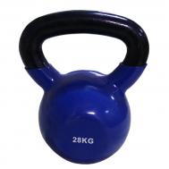 Цветная виниловая гиря  28 кг (синий) SPART DB2174-28Blue