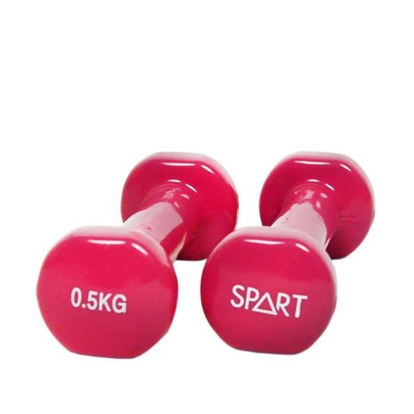 Виниловые гантели 2*0,5кг SPART DB2113-0,5Rose