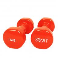 Виниловые гантели 2*1,5 кг SPART DB2113-1,5Orange