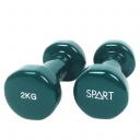 Виниловые гантели 2*2 кг SPART DB2113-2Green