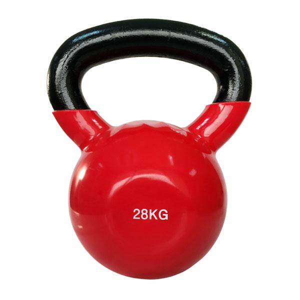 Цветная виниловая гиря 28 кг (красная) SPART DB2174-28Red