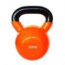 Цветная виниловая гиря 32 кг (orange) SPART DB2174-32