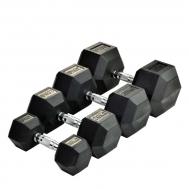 Гантель гексогональная обрезиненная 1-80 кг   SPART DB6101-1-80