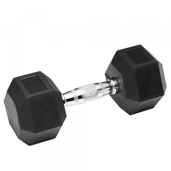 Гантель обрезиненная 65 кг Spart DB6101-65