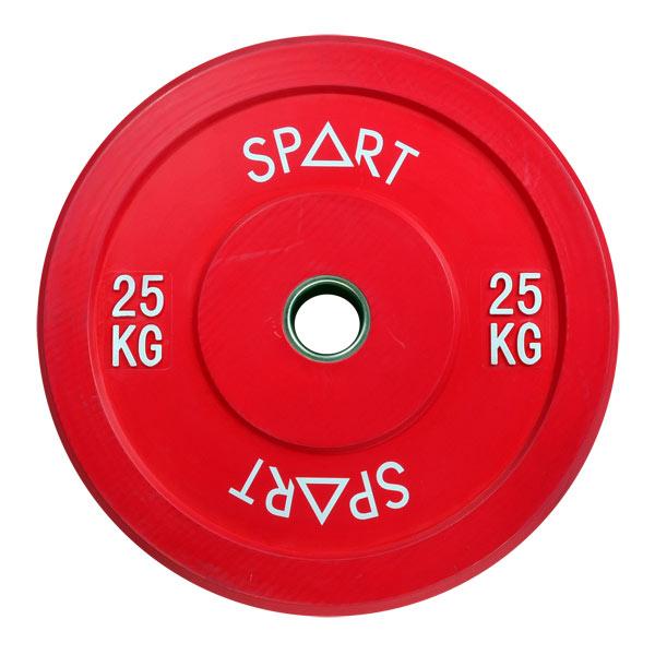 Бамперный диск цветной 25 кг SPART PL42-25