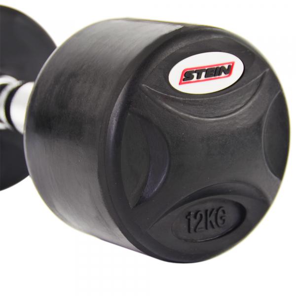 Гантель обрезиненная 12 кг Stein DB3051-12