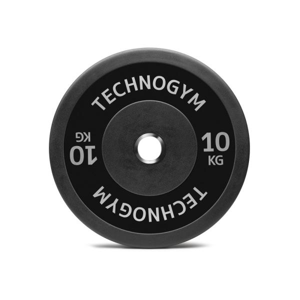 Черный резиновый диск 10 кг Technogym Black Rubber Bumper 10kg (A0001011)