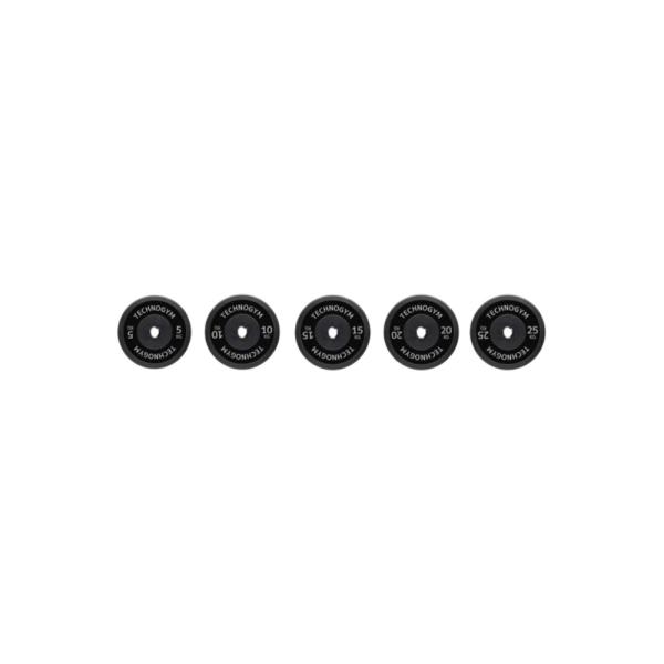 Черный резиновый диск 15 кг Technogym Black Rubber Bumper 15kg (A0001012)