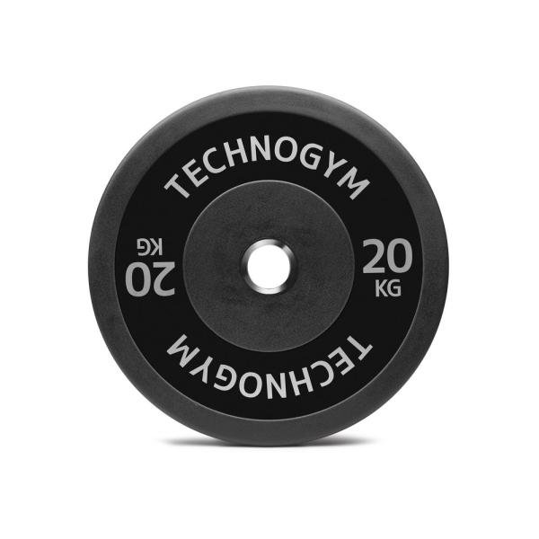 Черный резиновый диск 20 кг Technogym Black Rubber Bumper 20kg (A0001008)