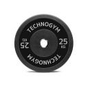 Черный резиновый диск 25 кг Technogym Black Rubber Bumper 25kg (A0001009)