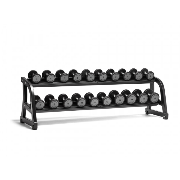 Комплект гантелей полиуретановых 18 пар (4-32 кг) Dumbell Set 18 Pairs (4-32 KG) GBK2-NRGM (без стойки)
