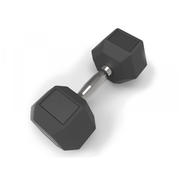 Шестигранная обрезиненная гантеля 20 кг Technogym Hexagon Dumbbell 20KG A0001022