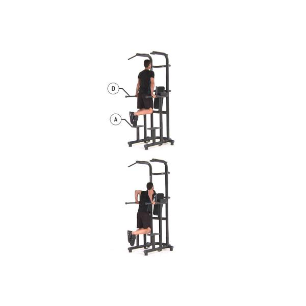 Комбинированная стойка Technogym CHIN UP DIP LEG RAISE PA12