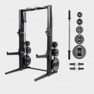 Многофункциональная стойка Technogym Rack Personal Dark 115 Kg + Barbell&Dumbbell MD15K-NBNB00S