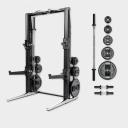 Многофункциональная стойка Technogym Rack Personal Chrome 115 Kg + Barbell&Dumbbell MD15KB-NBNB00S