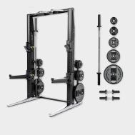 Многофункциональная стойка Technogym Rack Personal Chrome 115 Kg + Barbell&Dumbbell MD15K-NBK000S