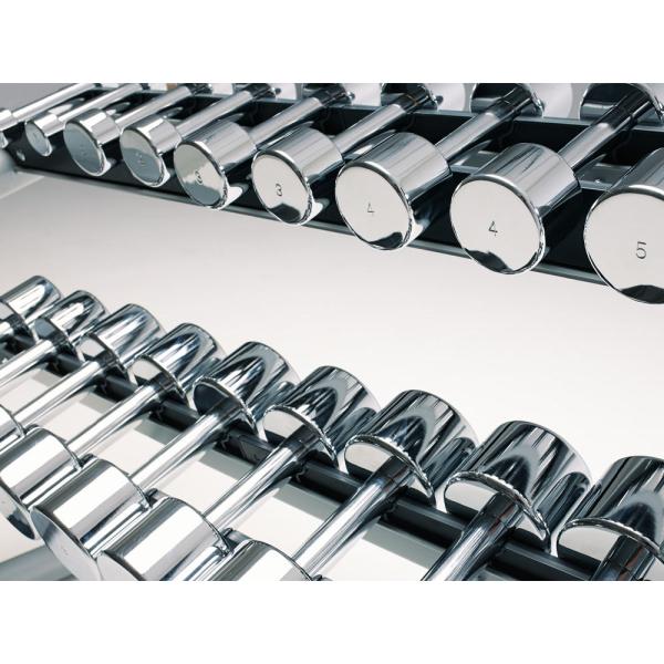Комплект хромованных гантель 1-10 кг Technogym Series 10 Pairs 1-10KG KAK1